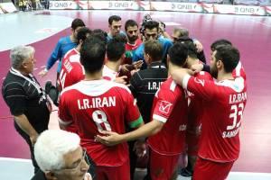 پیروزی هندبال ایران مقابل لبنان