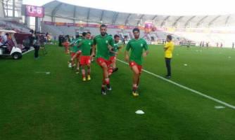 امیدهای ایران در ورزشگاه بن خلیفه