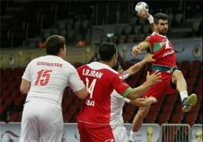 پیروزی هندبال ایران مقابل عمان