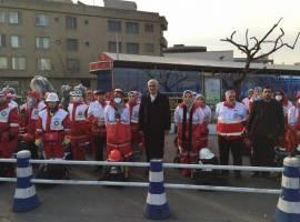 خدمترسانی امدادگران هلال احمر به 2111 نفر در مسیر راهپیمایی 22 بهمن تهران