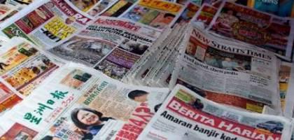سرخط روزنامه هاي مالزي-11 ارديبهشت