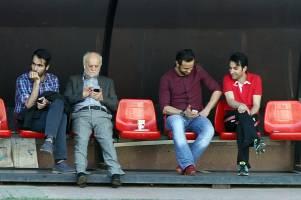 علی کریمی در تمرین پرسپولیس حاضر شد