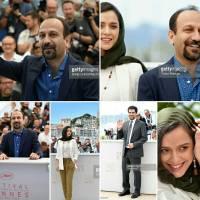 شوخی با لباس ترانه عليدوستي و سحر دولتشاهی در کن + تصاویر