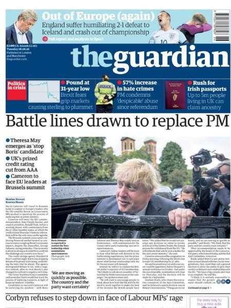 سرخط روزنامههای انگلیس-هشتم تیرماه