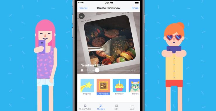 قابلیت اسلایدشوی جدید فیسبوک از عکس های شما ویدئوهای جذاب می آفریند
