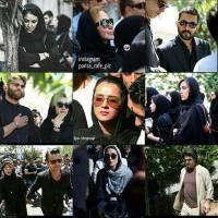 هنرمندان معروف در مراسم تشییع کیارستمی! + عکس