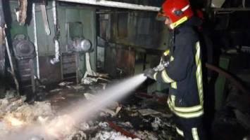 آتش سوزی در کارخانه پنبه