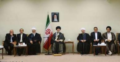 دیدار رئیس جمهوری و اعضای هیات دولت با رهبر معظم انقلاب اسلامی