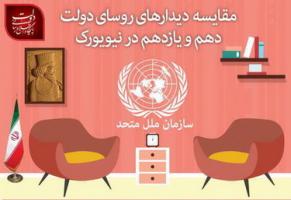 مقاسیه دیدارهای روحانی و احمدینژاد در نیویورک