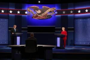 پیروز اولین مناظره انتخاباتی ترامپ و کلینتون بر اساس نظرسنجی ها