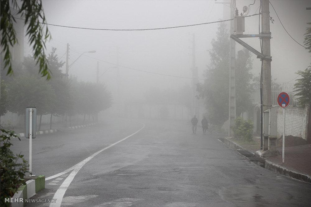 وجود مه غلیظ در جاده های زنجان