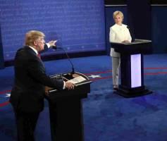 آخرین مناظره انتخاباتی ترامپ و کلینتون