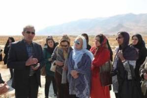 بازدید همسران سفرای 12 کشور خارجی از کانی برازان و دریاچه ارومیه