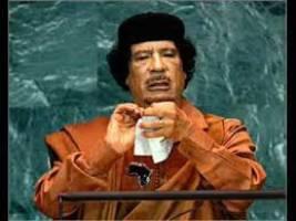 معمر قذافی رهبر سر به هوای لیبی