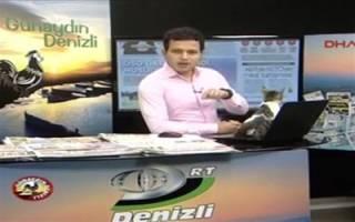 ورود گربه به استودیوی برنامه زنده تلویزیونی در ترکیه!