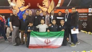 کشتی آزاد دانشجویان ایران با ۵ طلا و ۳ برنز قهرمان جهان شد