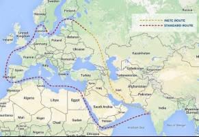 ایران به کریدور تجاری شمال و جنوب متصل شود