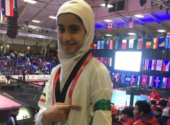مبینا نژاد به نشان طلا دست یافت