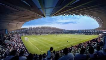 اولین استادیوم چوبی جهان+تصاویر