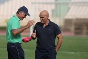 حضور منصوریان در تمرین تیم ملی
