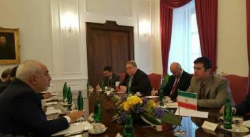 دیدار ظریف با رئیس مجلس چک