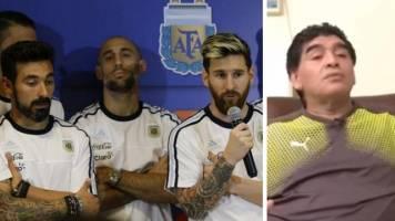 اظهارات جنجالی مارادونا درباره بازیکنان تیم ملی فوتبال آرژانتین