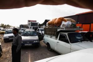 ترافیک مرزهای «چذابه» و «شلمچه» عادی و ترافیک مرز «مهران» روان