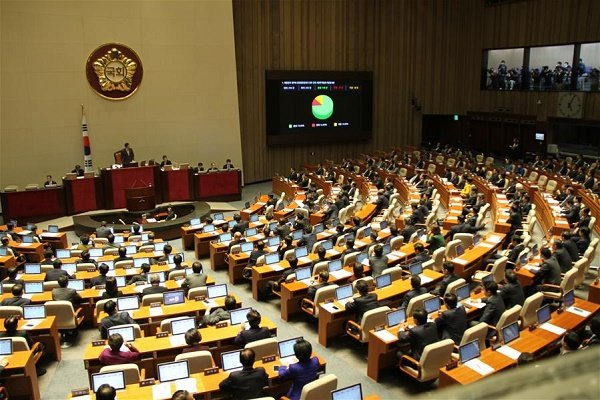 بررسی لایحه برکناری رئیس جمهور کره جنوبی