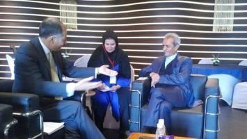 رئیس اتاق ایران با رئیس کنفدراسیون صنعت هند دیدار کرد