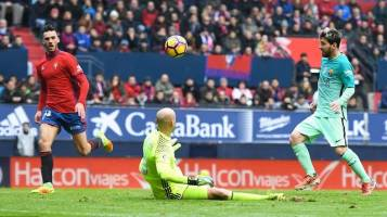 پیروزی آسان بارسلونا برابر اوساسونا با دبل مسی