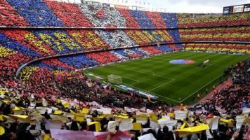 تماشاگران بارسلونا در اروپا اول شدند + عکس