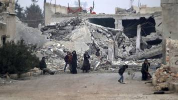 کشف گورهای دستهجمعی در محلههای شرقی حلب حلب