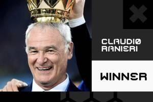کلودیو رانیری بهترین مربی سال ۲۰۱۶ شد