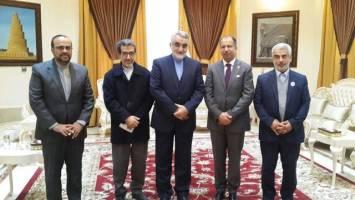دیدار هیأت پارلمانی ایران با رئیس مجلس عراق