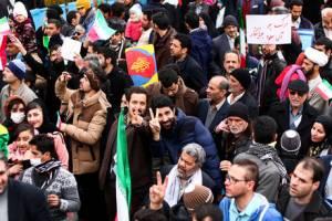 تصاویری از راهپیمایی  با شکوه 22 بهمن