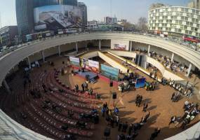 (تصاویر) افتتاح ایوان انتظار میدان ولیعصر