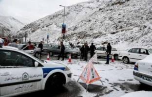 جاده هراز مسدود شد؛ چالوس پر ترافیک و یک طرفه