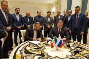 امضای دوتفاهمنامه بین ایران و روسیه