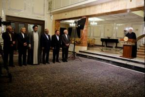 مردان دولت در کنار روحانی