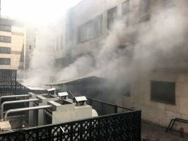 نفوذ به طبقه منفی چهار ساختمان وزارت نیرو برای اطفای حریق