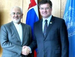 دیدار وزیر امور خارجه با رییس مجمع عمومی سازمان ملل