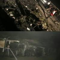 انتقال اجساد حادثه اتوبوس مسافربری به پزشکی قانونی اصفهان
