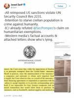 ادامه جدال توییتری وزرای خارجه ایران و آمریکا