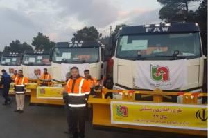 ورود ۱۰۰ دستگاه ماشینآلات جدید به ناوگان راهداری کشور
