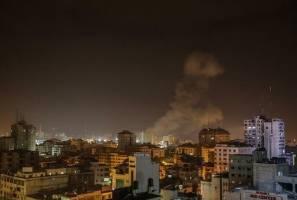 بمباران نوار غزه توسط جنگنده های صهیونیستی