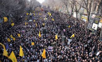 راهپیمایی مردم ایران در پی شهادت«سردارسلیمانی»