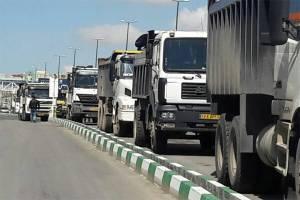صادرات بیش از دو هزار کامیون کالا به عراق