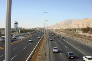 ترافیک سنگین آزادراه ساوه-تهران