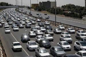 ترافیک سنگین ۲ آزادراه کرج و ساوه-تهران