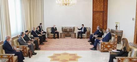 تصاویری از دیدار ظریف با اسد